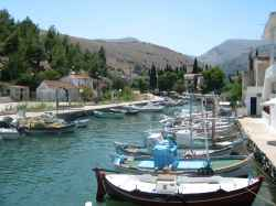 Vissers bootjes in Griekenland